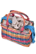 Mallory Rainbow Straw Bag - Handbags