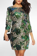 Olympia Sequin Dress (Green) - Green / XXL - Clothing