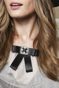 Park Ave Bowknot Brooche - Black - Accessories