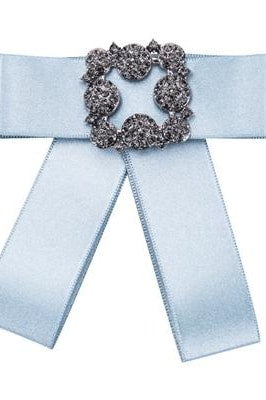 Park Ave Bowknot Brooche - Blue - Accessories