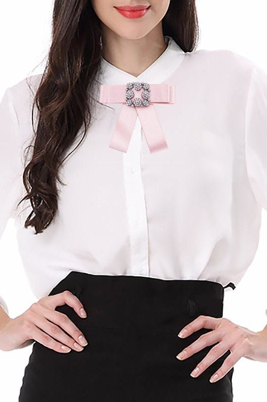 Park Ave Bowknot Brooche - Pink - Accessories