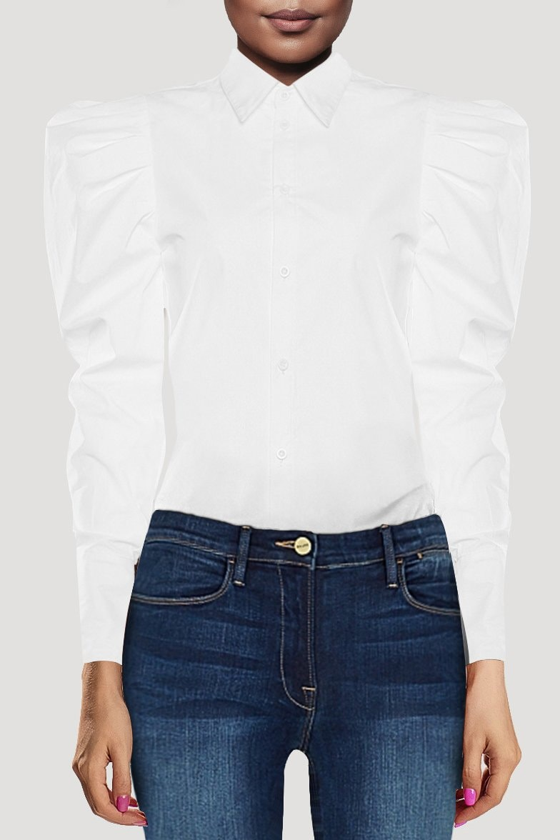 Quinn Puff Sleeve Blouse - Clothing