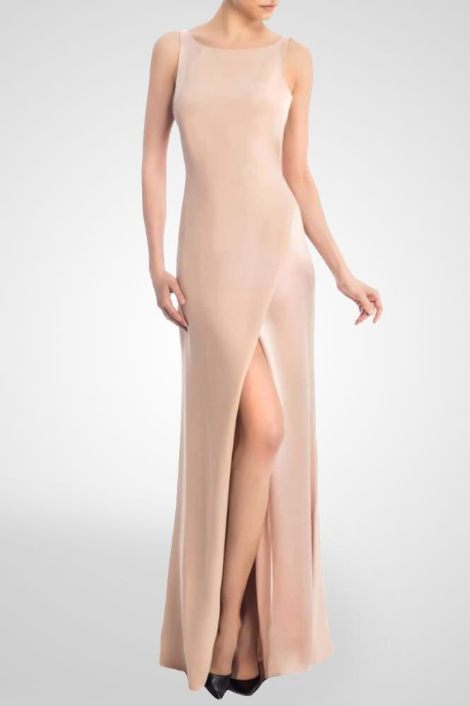 Silk Georgette Gown - X-Small / Blush - Clothing