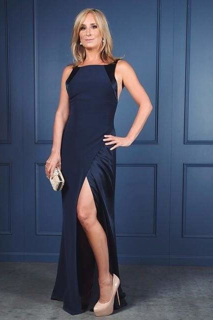 Silk Georgette Gown - X-Small / Navy - Clothing