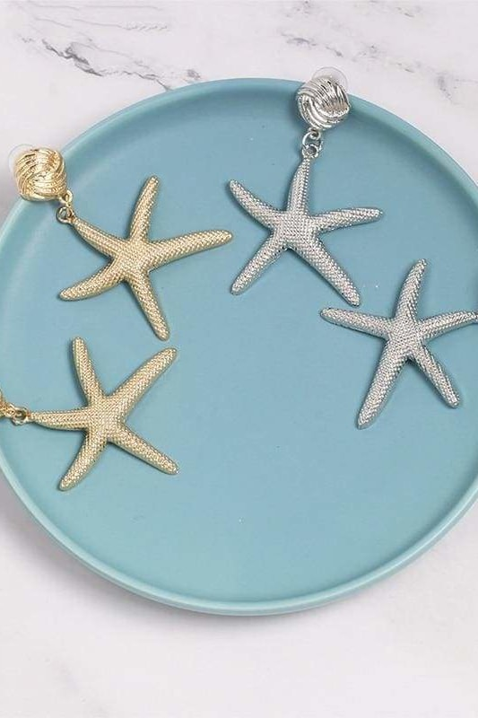 Starfish Earrings - Jewelry