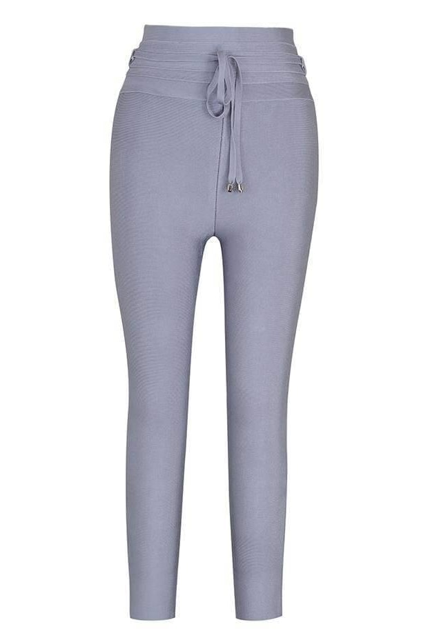 Stephanie High Waist Pants - Blue / L - Clothing