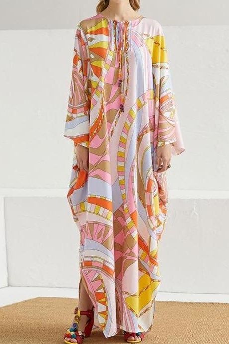 Sunrise Abstract Kaftan - Clothing