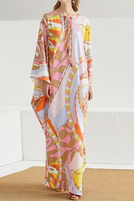 Sunrise Abstract Kaftan - Multi / S - Clothing