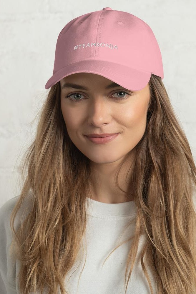 #TEAMSONJA Embroidered Dad Hat - Pink - Hats