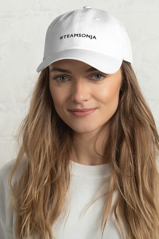 #TEAMSONJA Embroidered Dad Hat - White - Hats