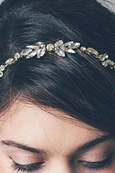 DIEZI Fashion Gold Silver Color Hair Combs Bride Crystal Rhinestones Women Hairpins Bridal Hairband Hair Jewelry Accessories