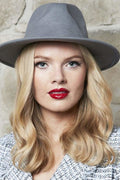 Wool Brim Hat - Grey - Hats