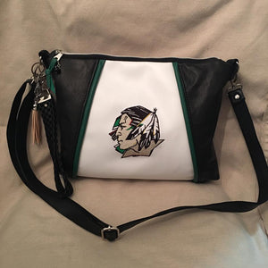 Sport Leather and Faux Leather Handbags - Choose your Team! Crossbody Style Bag