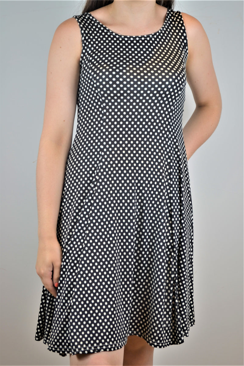 Husen Moda Polka Dot Dress Sleeveless