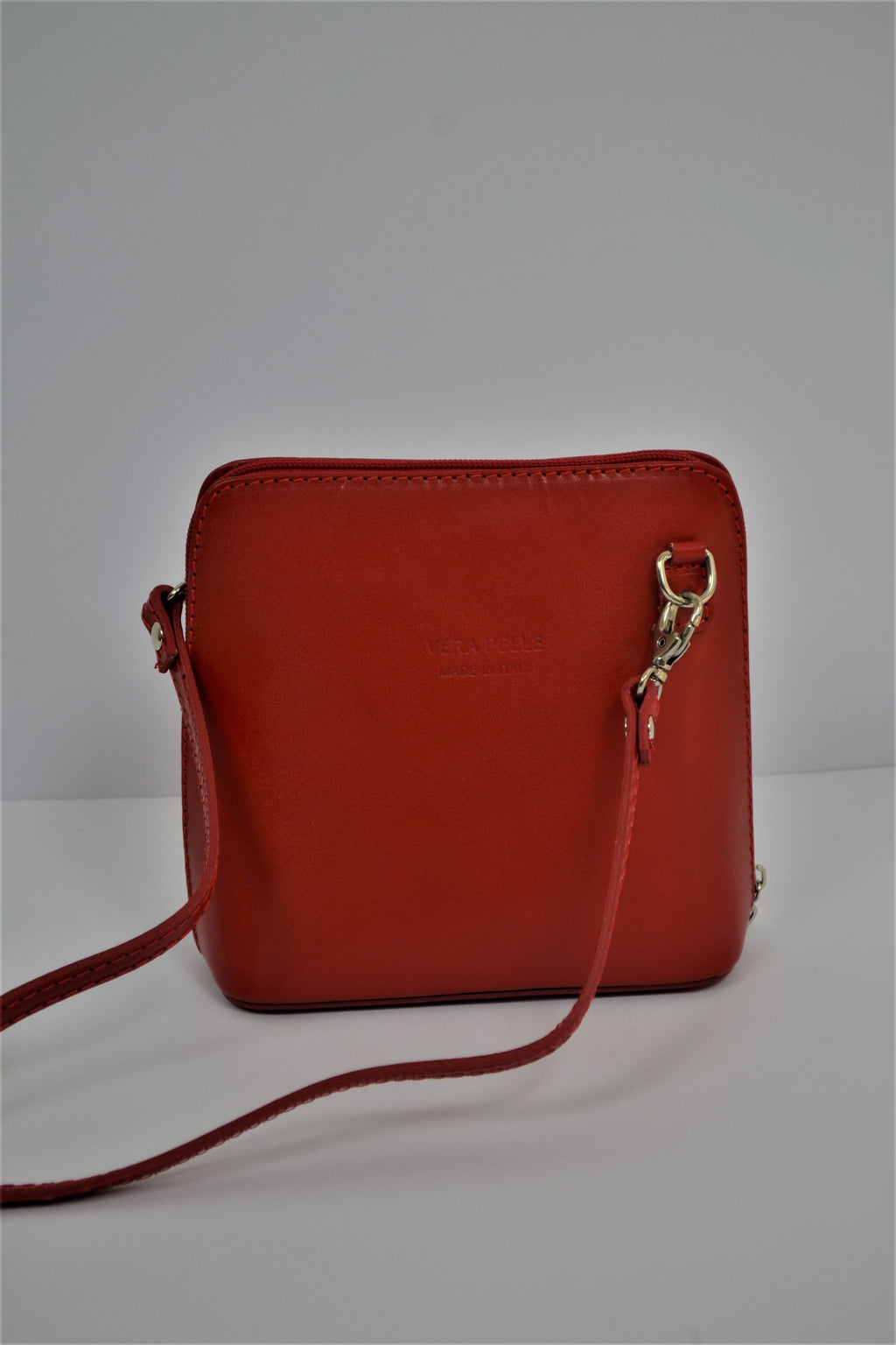 Husen Moda Red Leather Bag