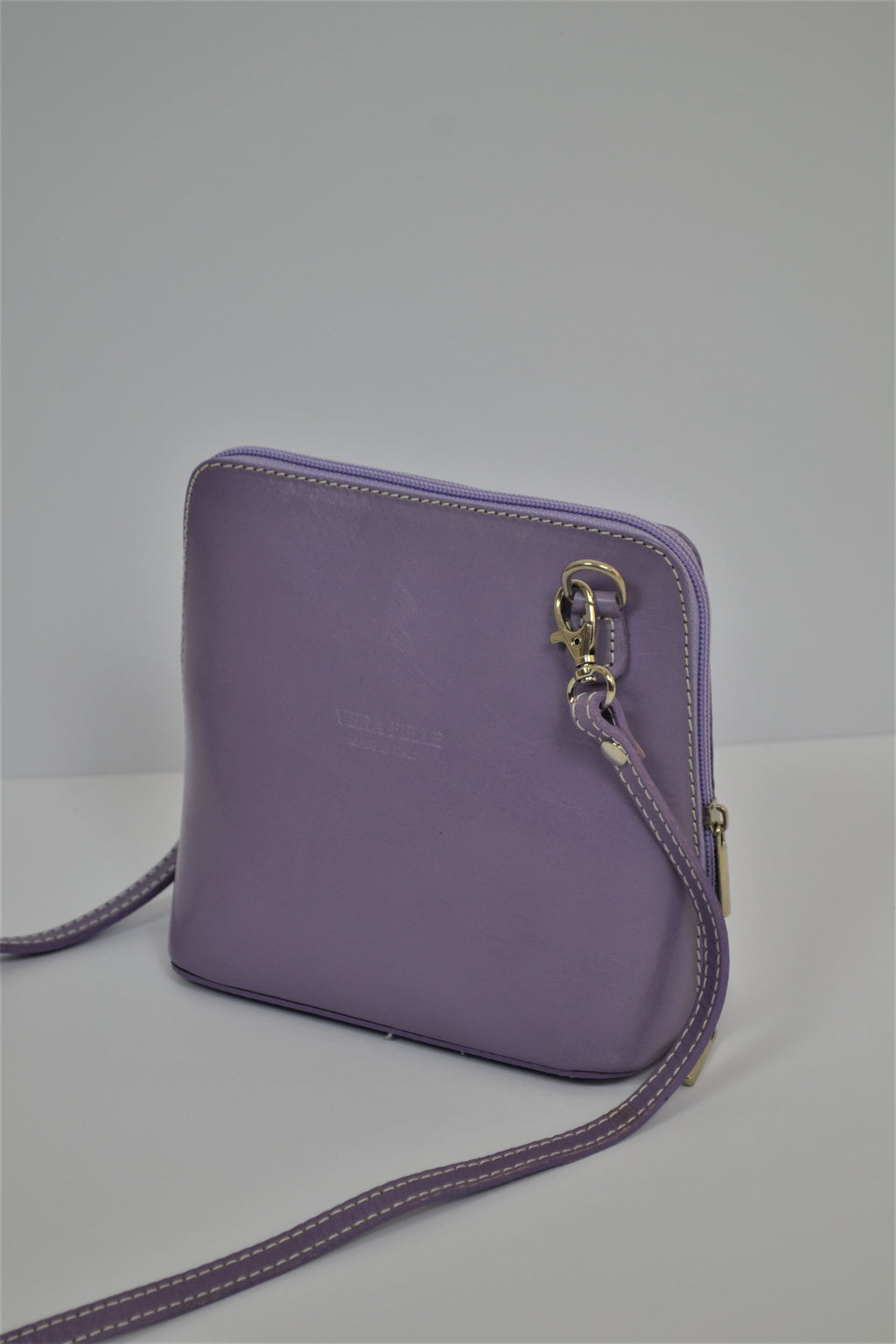 Husen Moda Purple Leather Bag