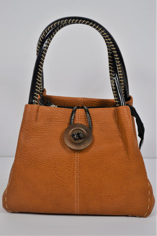 Husen Moda Orange Leather Bag