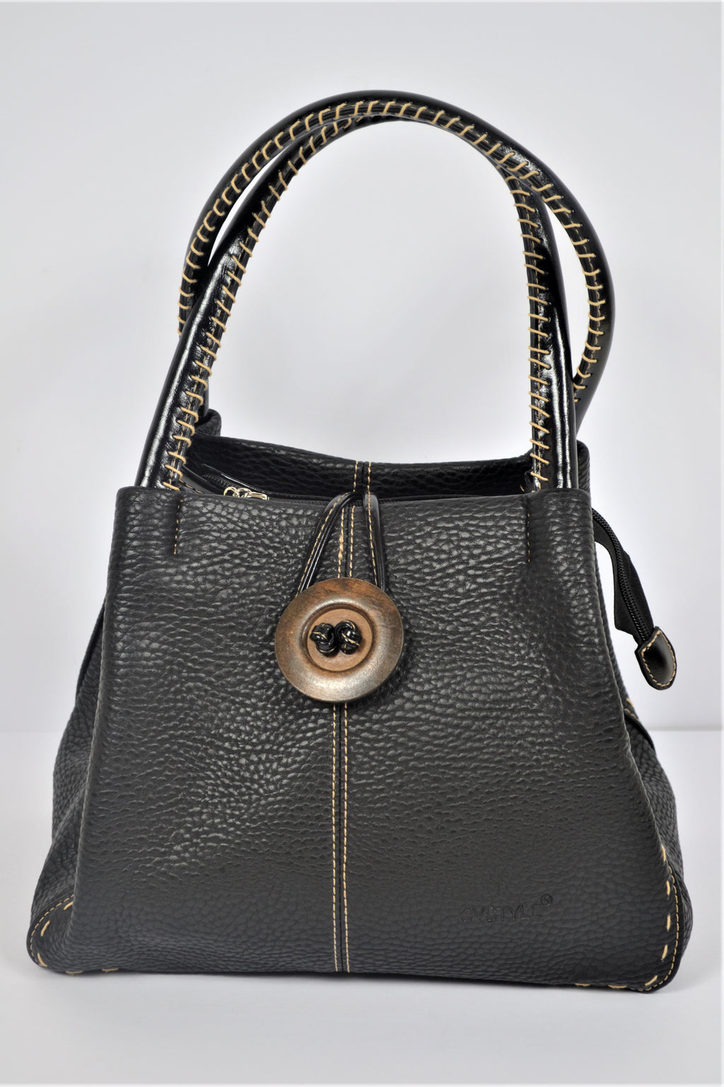 Husen Moda Black Button Bag
