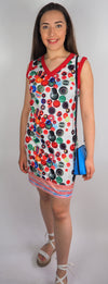 Husen Moda Cap Sleeve Daisy Dress