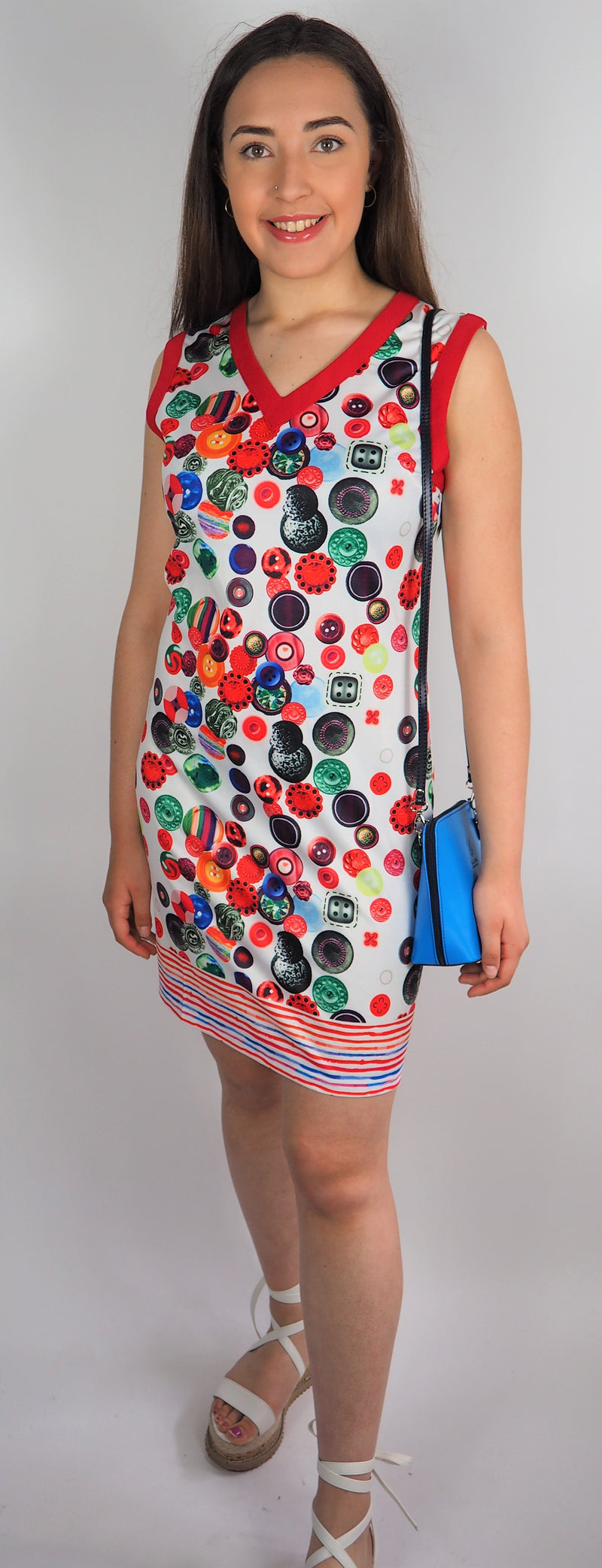 Husen Moda Multi Print Dress