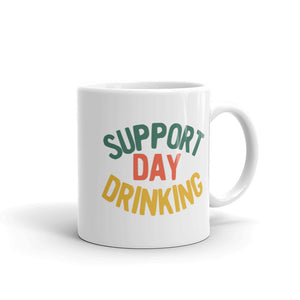 Support Day Drinking Vintage 70s 80s Retro Style Funny graphic Mug