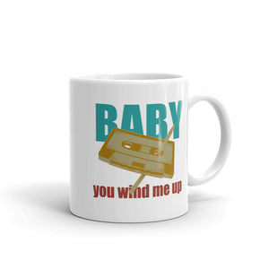 Baby You Wind Me Up Retro Style Vintage Cassette Tape Pen graphic Mug