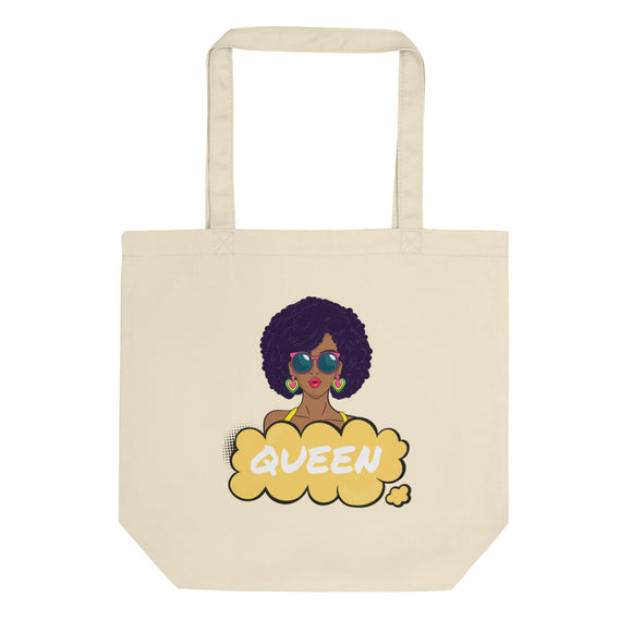 Strong Black Woman Queen Pop Art Graphic product for Women Eco Tote Bag