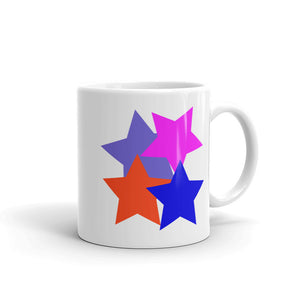 Kids 4 Stars Blue Pink Blue Grey Orange Stylish Design DBK4K Mug