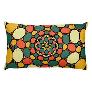 Retro Peace and Tranquility Vintage Zen Stone Garden Basic Pillow