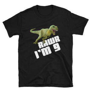 Kids Boys 9th Birthday product Dinosaur T-Rex Tyrannosaurus Rex Short-Sleeve Unisex T-Shirt