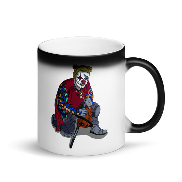 Creepy Clown design Graphic graphic Funny Gift Boys Men and printns Matte Black Magic Mug