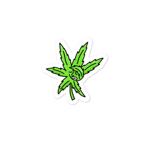 Dabbing Weed Marijuana Leaf Dab Cartoon Graphic product Bubble-free stickers