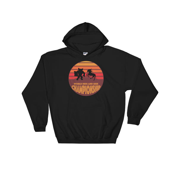 Unicorn Werewolf World Hide and Seek Championship Unisex Hooded Sweatshirt