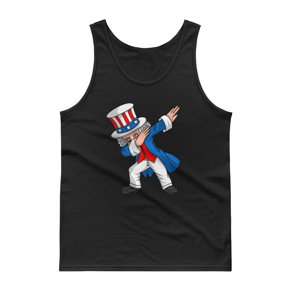 4th of July Party design for Kids Boys Men Dabbing Uncle Sam Tank top