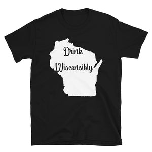 Drink Wisconsibly Wisconsin Drinking  design T-shirt