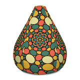 Retro Peace and Tranquility Vintage Zen Stone Garden All-Over Print Bean Bag Chair w/ filling