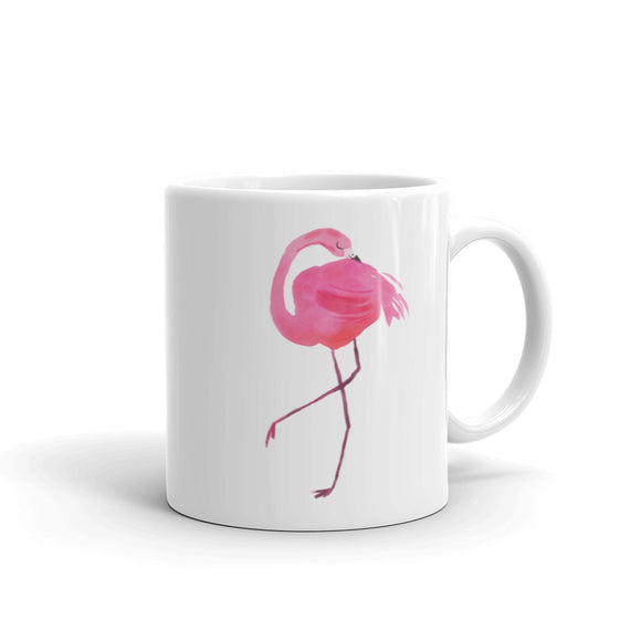 Pretty Pink Flamingo Watercolor Graphic product Mug
