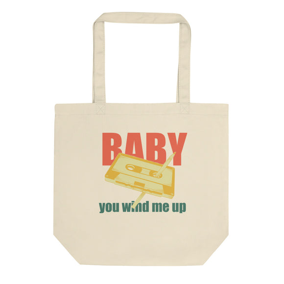 Pen and Cassette Baby You Wind Me Up Trendy Throwback  product Eco Tote Bag