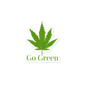 Go Green Marijuana Weed Leaf Graphic product Bubble-free stickers