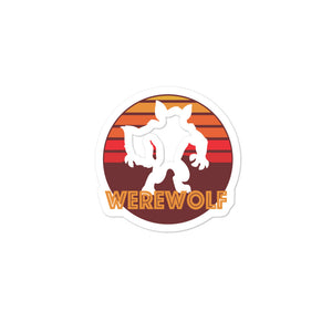 Retro Vintage Werewolf Graphic Logo product Bubble-free stickers