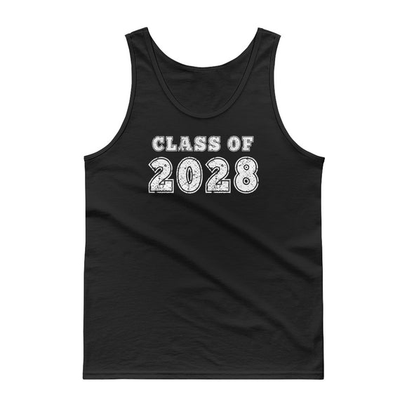 Class of 2028 Distressed Back To School design Tank top