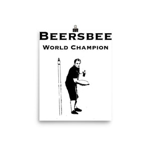 Beersbee World Champion Poster