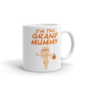 Matching Family Halloween Grandma graphic I'm The Grand Mummy Mug