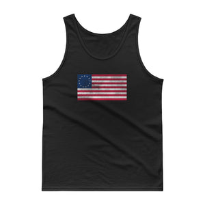 Betsy Ross American Flag Distressed Grunge Style design Tank top