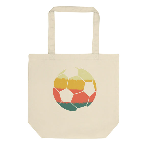 Retro American Soccer Ball Vintage Style print Eco Tote Bag