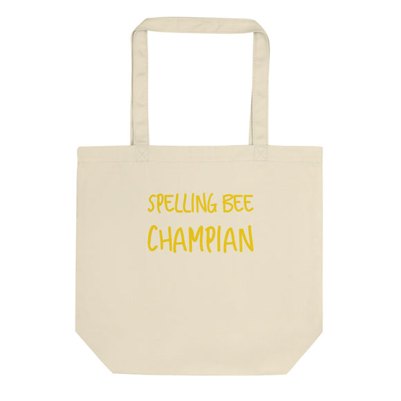 Spelling Bee Champian Ironic Funny Misspelled Champion  design Eco Tote Bag