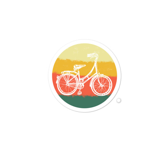 Retro Bicycle Vintage Bike Graphic product Bubble-free stickers