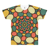 Retro Peace and Tranquility Vintage Zen Stone Garden Short sleeve men's t-shirt
