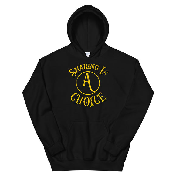 Sharing is Choice Anarchy Anarchism Capitalism design Unisex Hoodie