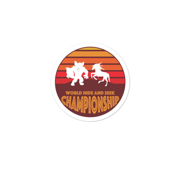 Unicorn Werewolf World Hide and Seek Championship Bubble-free stickers